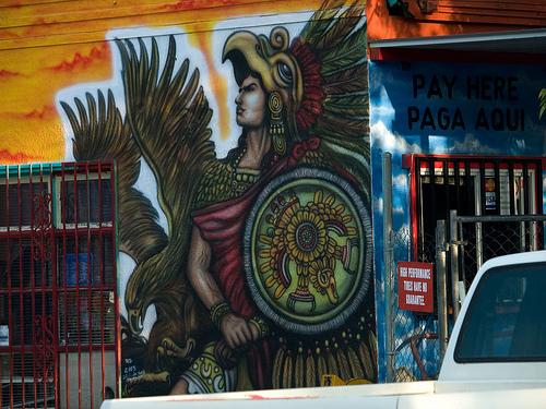 East austin mural el mundo de mando for Austin mural tour