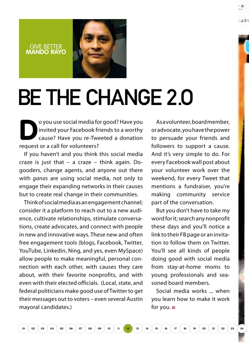 Be the Change 2.0
